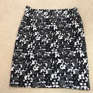LuLaRoe Cassie Skirt XL Black White